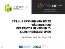 CPS.HUB, Cyber Physical Security, Der Faktor Mensch inIT-Sicherheitssystemen